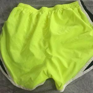Nike Shorts - Nike neon yellow running shorts!